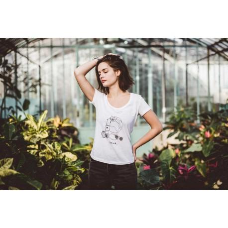 T-shirt femme coton bio Take me to