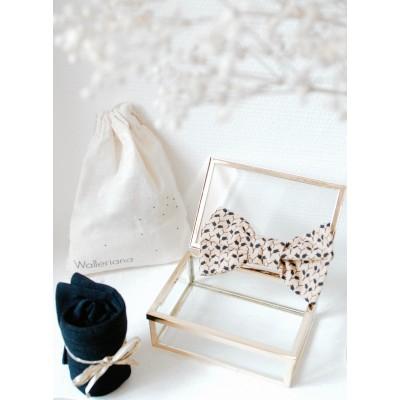 Kit New-York chaussettes bien-être noires + noeud papillon assorti