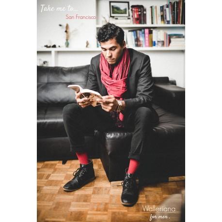 Chaussettes bien-être rouges Take me to San Francisco