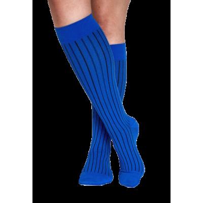 Chaussettes pour l'avion bleues - Saint Barth - compression modérée