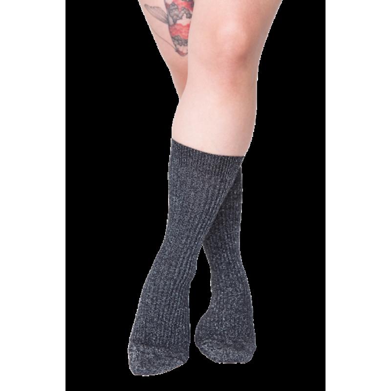 Tenaya, chaussettes pailletées coton lurex, pieds sensibles