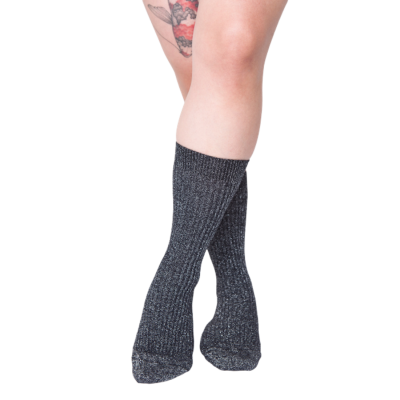 Seamless glitter socks for sensitive feet - Tenaya - cotton & lurex