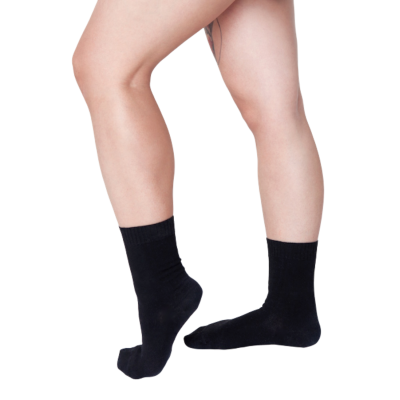 Pressure free socks for sensitive feet & calves - Saimaa - black cotton