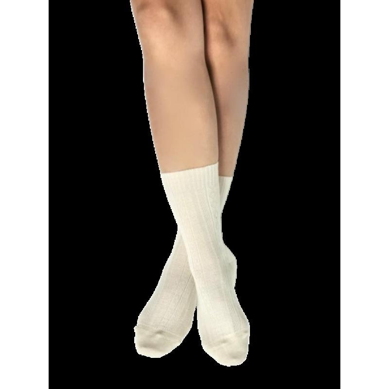 Skye, chaussettes laine peignée écru, pieds sensibles