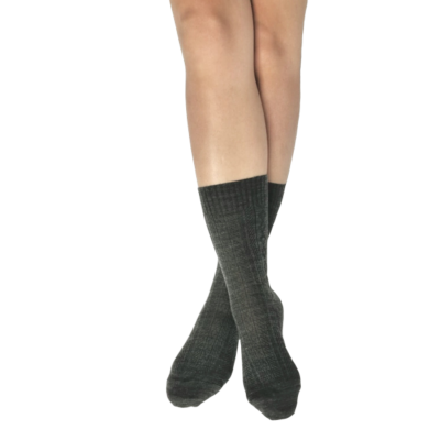 Pressure free socks for sensitive feet & calves - Skye - Grey worsted wool