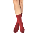 Pressure free socks for sensitive feet & calves - Skye - Raspberry Red worsted wool