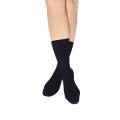 Pressure free socks for sensitive feet & calves - Skye - Black worsted wool