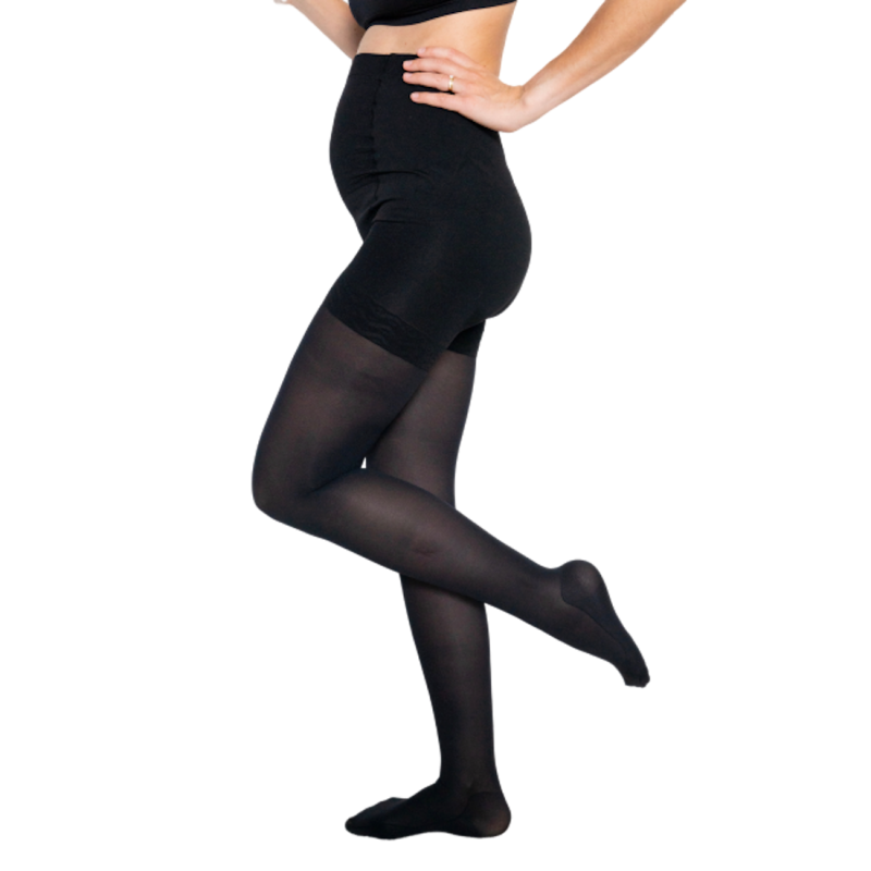 Moderate compression tights - Maternity by Solidea - color black