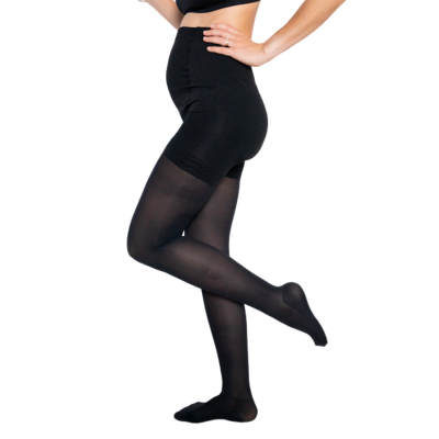 Moderate compression tights 140 den - Maternity by Solidea - opaque black