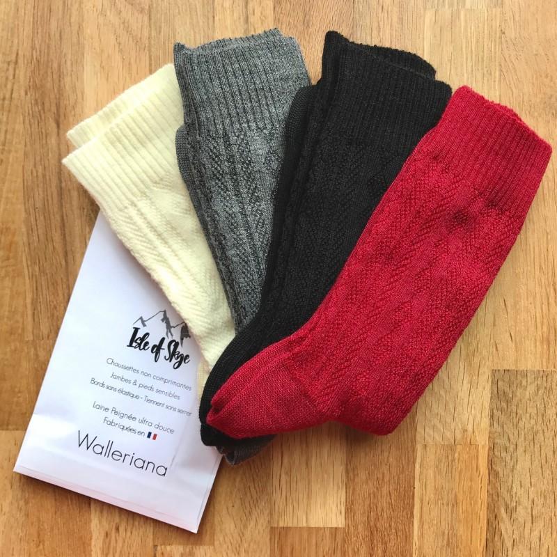 Skye, black worsted wool, sensitive feet