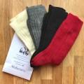 Quatuor de chaussettes pieds & mollets sensibles - Skye - laine peignée