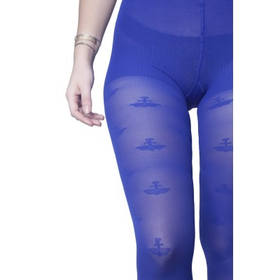 Shaping tights with light compression - blue navy