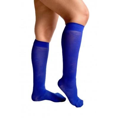 Light compression knee-high - Navy blue & Arabesques