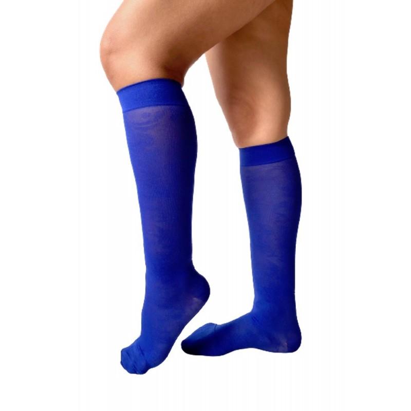 Knee-high azure blue arabesques