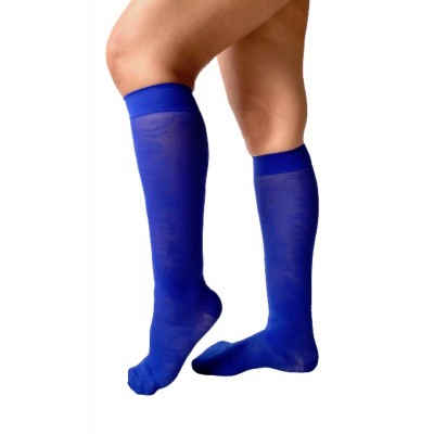 Light compression knee-high - Navy blue & Arabesques