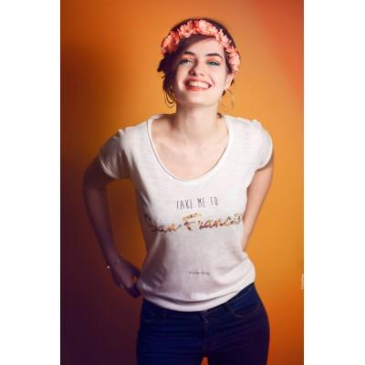 T-shirt fleuri coton bio San Francisco