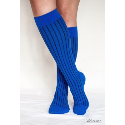 Blue socks for flight travel - Saint Barths