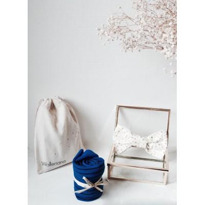 Chaussettes bien-être bleues Take me to Saint Barth + noeud pap (kit Réveillon)