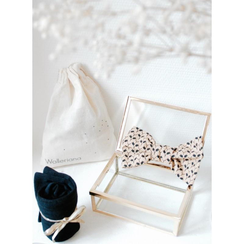 Kit New-York chaussettes bien-être + noeud papillon assorti