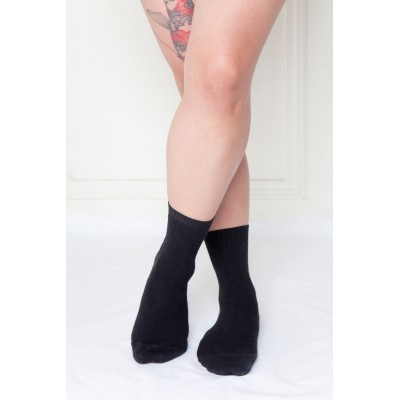 Saimaa, non-elasticated socks for sensitive legs, black
