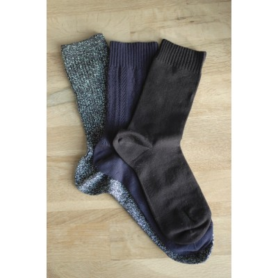 Trio Wanderlust, chaussettes pieds & mollets sensibles 3 paires