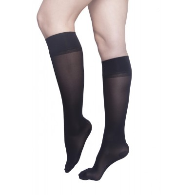 Moderate compression knee-high - plain black - Simple is the New Black