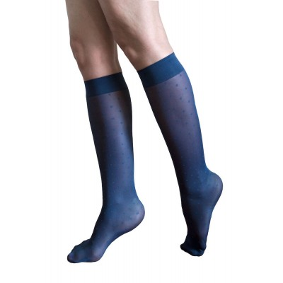 Moderate compression knee-high - dark stormy blue - Saint Malo