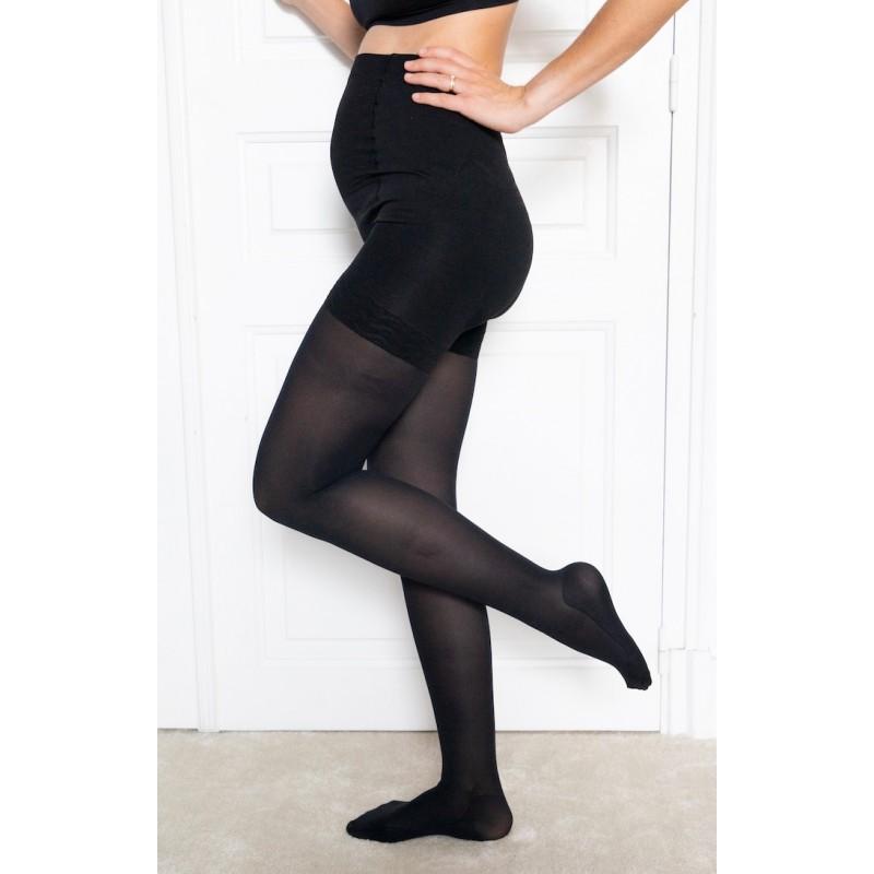 Moderate compression tights - Maternity by Solidea - color black