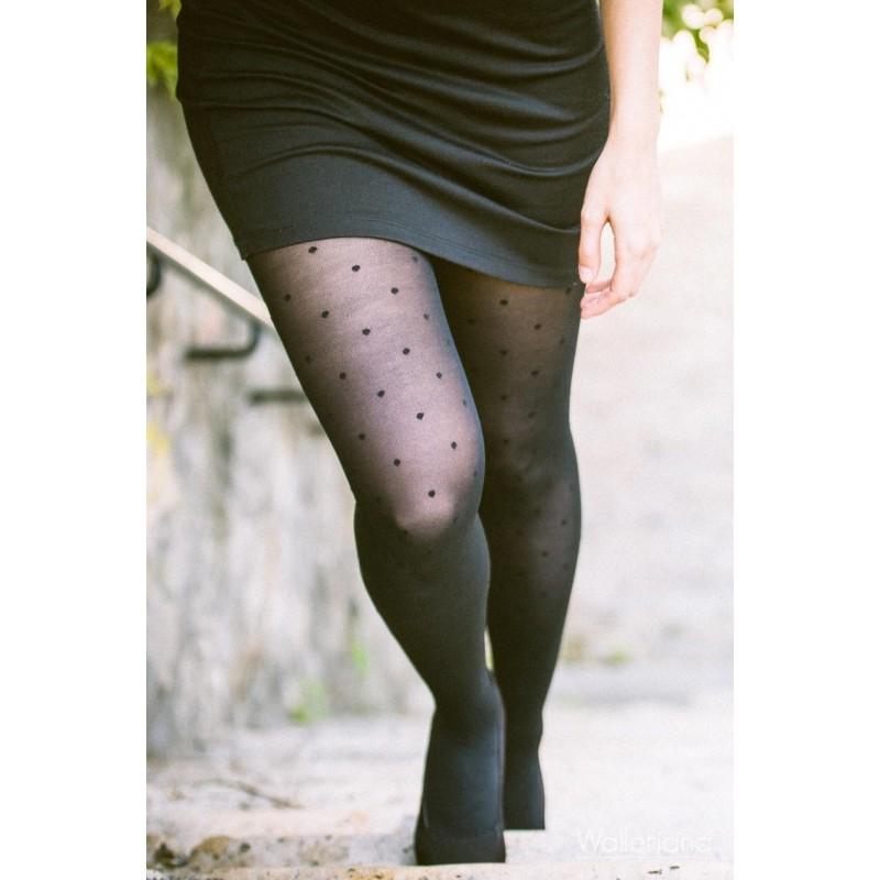 Black dots Bonjour Paris Pantyhose