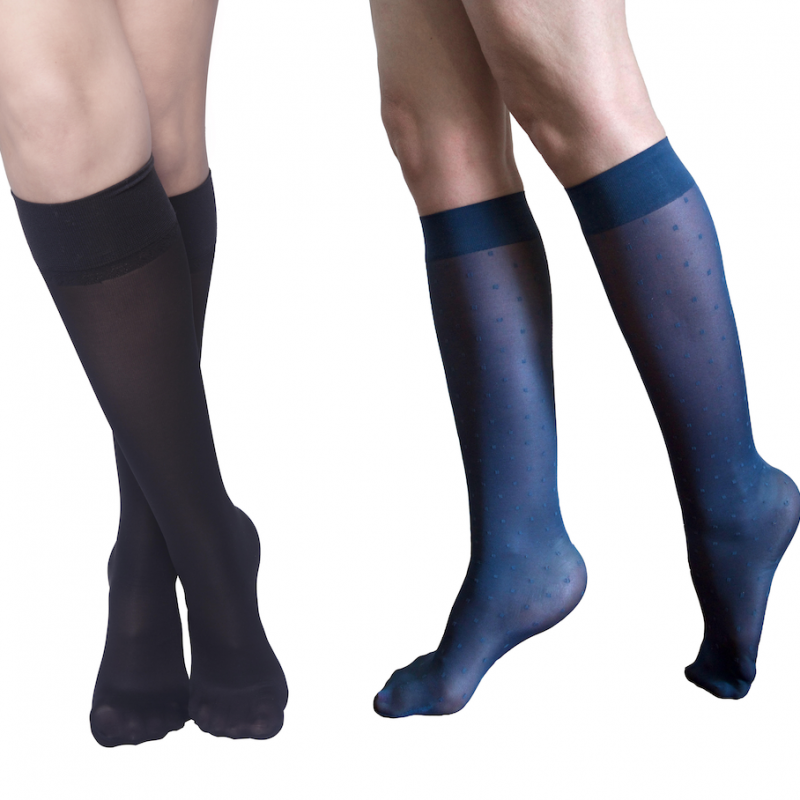 Pack 2x moderate compression knee-high - Saint Malo + Simple