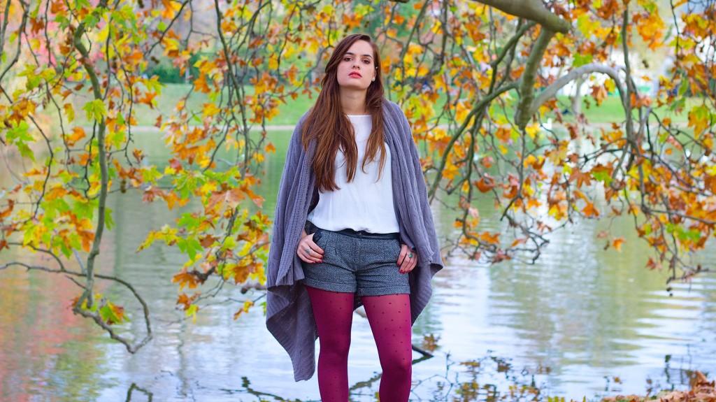 Look automnal : collants galbants à compression douce, collants de contention jolis, collants bien-être, Walleriana