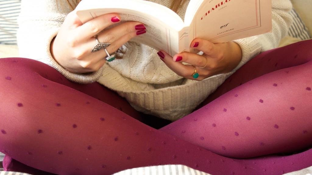 Cocooning et collants galbants à compression douce : gambettes à plumetis