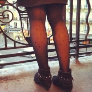 Les collants Bonjour Paris par Camille, Walleriana