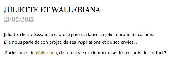 Sézane / Walleriana