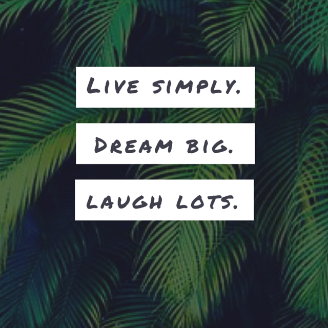 "Notre mot d'ordre de la rentrée Walleriana : ""Live simply, dream big, laugh lots"""