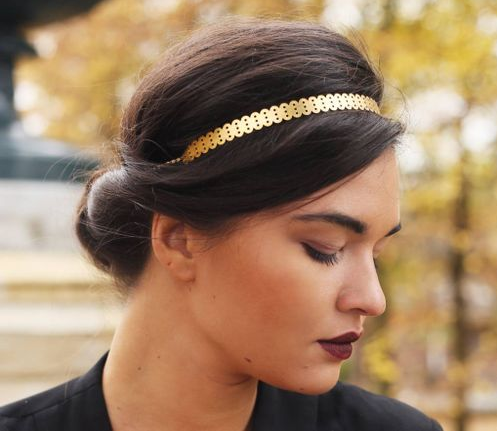 Headband, bijoux graphiques en laiton Vous Mademoiselle