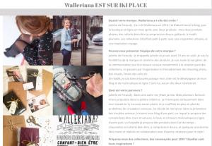 Iki magazine, le mag de la Boutique Ephémère, parle de Walleriana