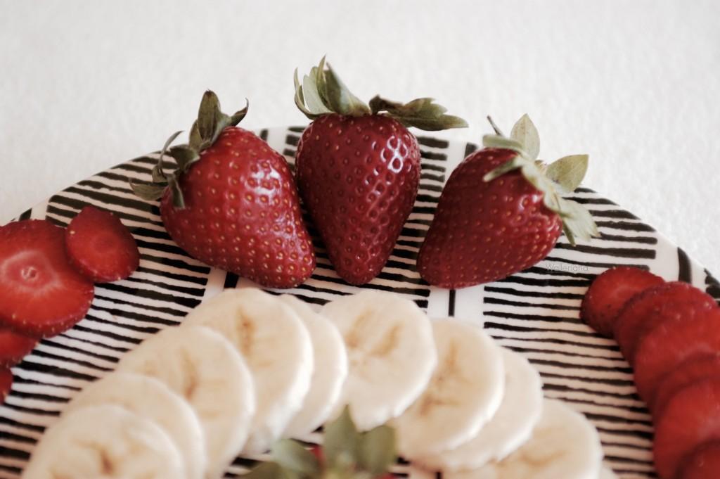 Smoothie de printemps fraise banane menthe