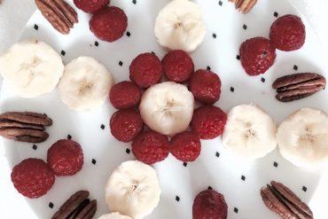 recette santé Smoothie framboises coco noix de pécan