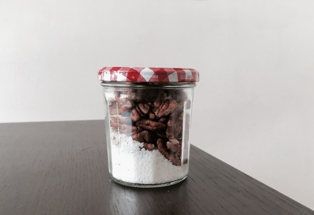 ingrédients Smoothie framboises coco noix de pécan