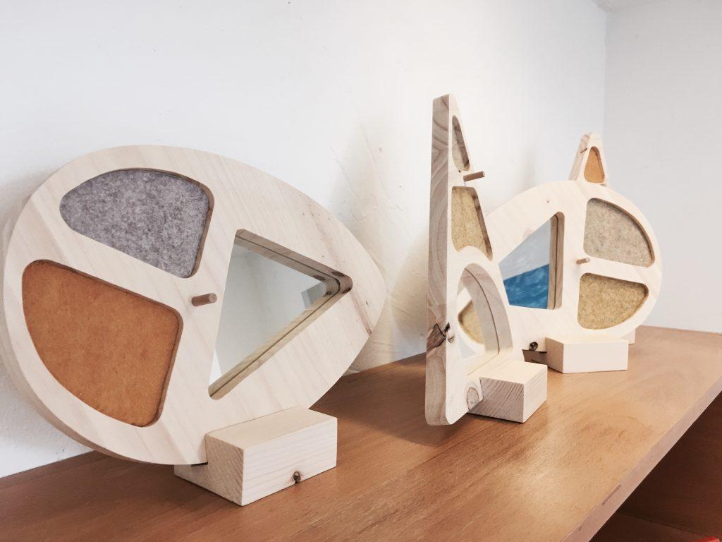 DMA Galerie, boutique éphémère de créateurs à Rennes, miroirs de la designeuse Marie Boussard @MaaDesign