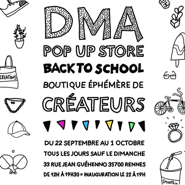 DMA Galerie, boutique éphémère de créateurs à Rennes