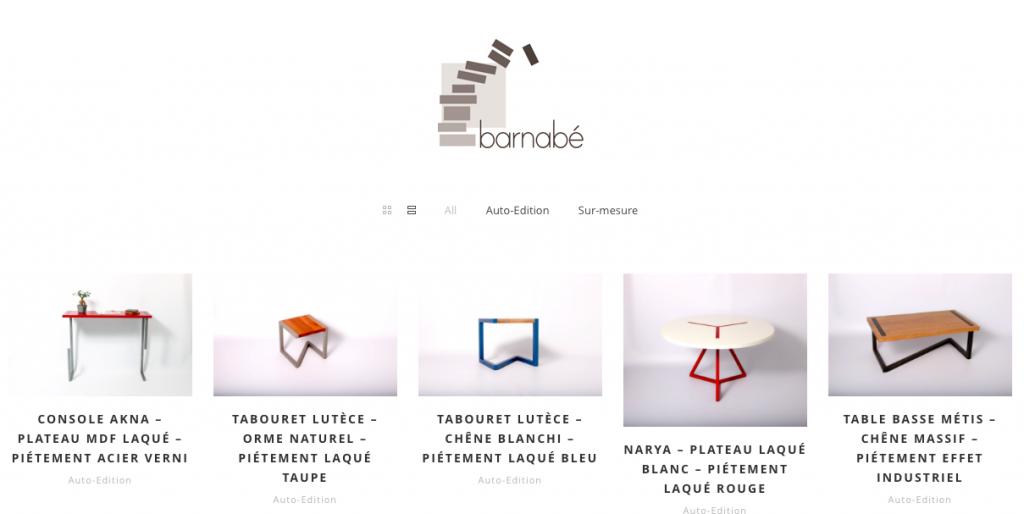 Barnabé design, mobilier design