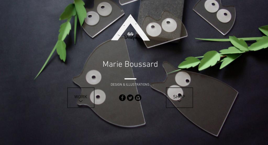 Marie Boussard, Maa design