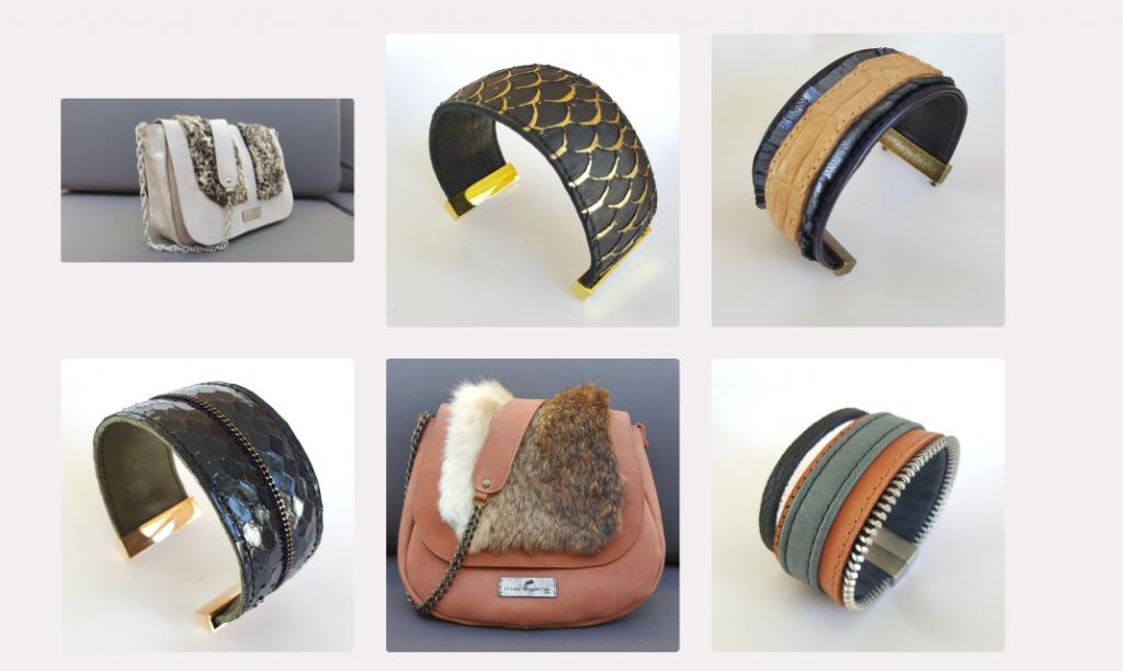 Manegane, maroquinerie et accessoires en cuir