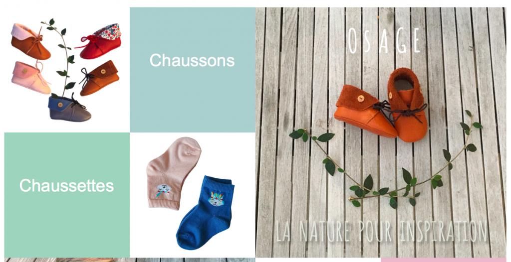 Osage chaussons et accessoires bébé éco friendly